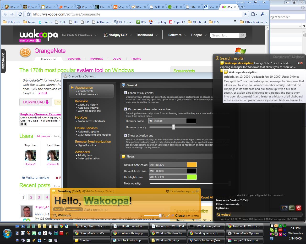 OrangeNote screenshot